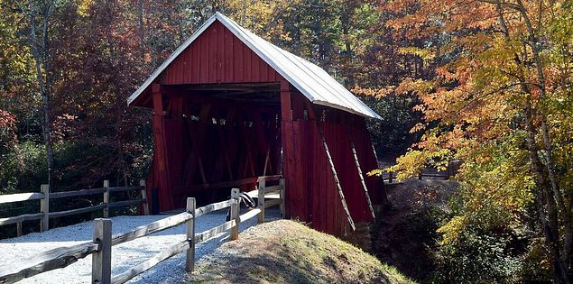 Campbell's Covered bridge is the last covered bridge in South Carolina.