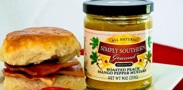 South Carolina sweet potato pepper mustard made by Simply Southern Gourmet