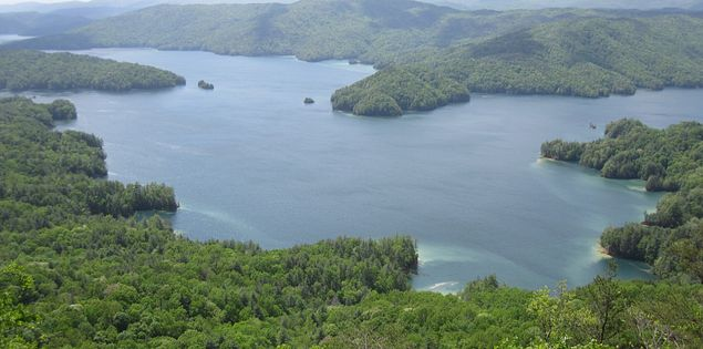 Lake Jocassee at Jocassee Gorge