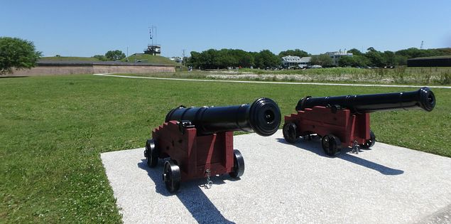 Plan a visit to Fort Moultrie in South Carolina.