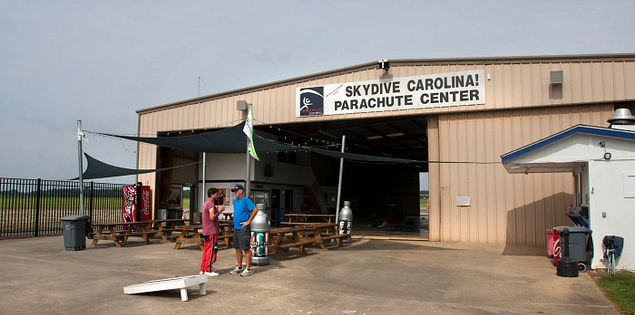 The skydiving center at Chester Catawba Regional Airport in Chester, South Carolina