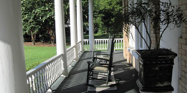 Abingdon's front porch