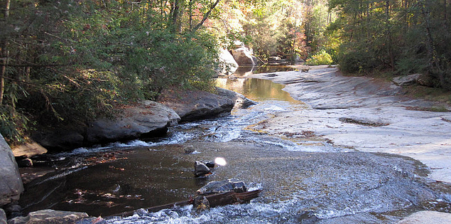 Little Eastatoee Creek at Long Shoals Wayside Park