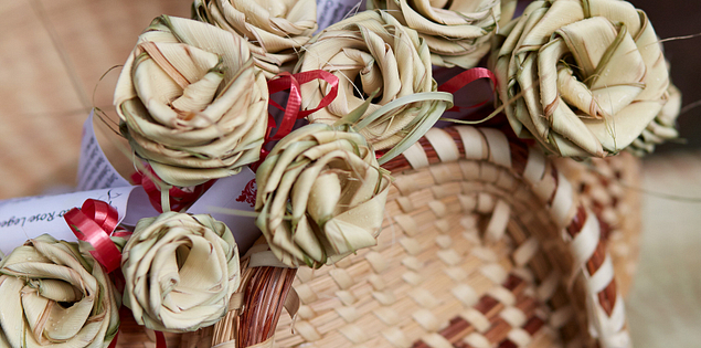 Original, handcrafted Gullah sweetgrass baskets