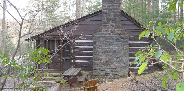 South Carolina's Table Rock State Park's historic cabins