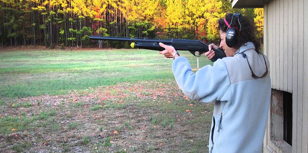 Skeet shooting in McCormick, South Carolina