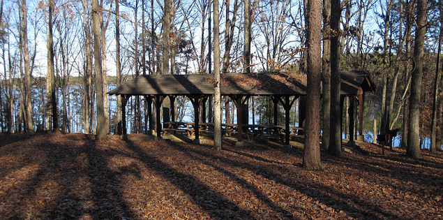 Dreher Island picnic area in Newberry County, South Carolina