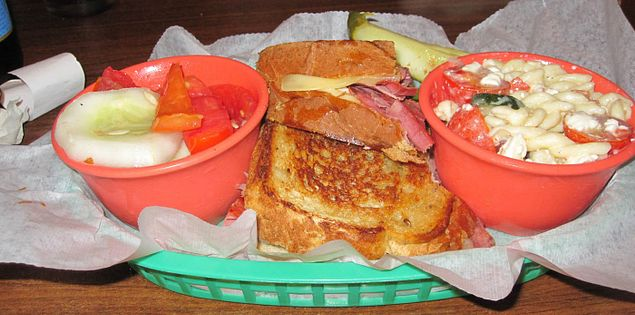 Ruben sandwich from The Cafe at Williams Hardware located in Travelers Rest