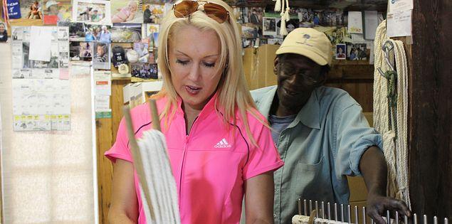 Natalie Gulbis at The Hammock Shops in Pawleys Island, South Carolina
