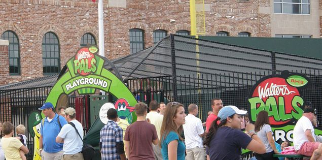 Playground near South Carolina's Fluor Field in Greenville