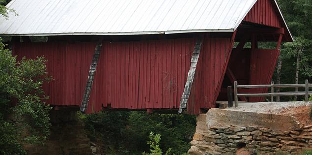 Campbell's Covered Bridge over South Carolina's Beaverdam Creek