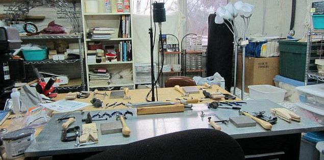 South Carolina artist Beth Wicker's studio teaching space