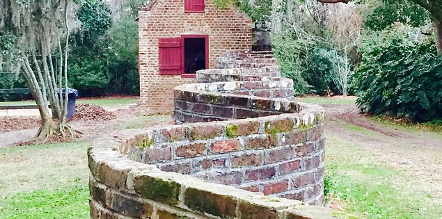 boone hall plantation brick wall