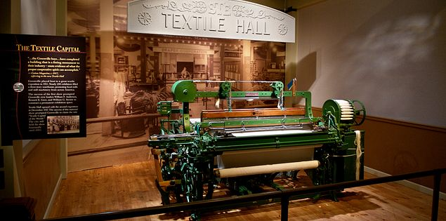 The Upcountry History Museum's Textile Hall exhibit.