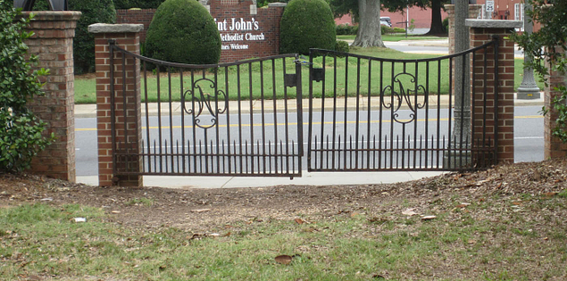 Fence at Rock HIll's White Home in South Carolina