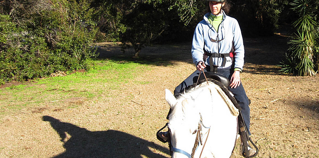 Horseback riding in the Sea Pines Forest Preserve.