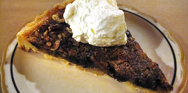 Chocolate pecan pie served at the Glass Onion in Charleston, South Carolina
