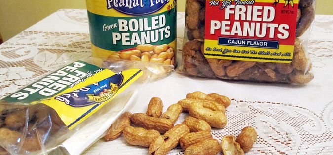 Boiled and fried peanuts are made by South Carolina's Peanut Patch out of Effingham