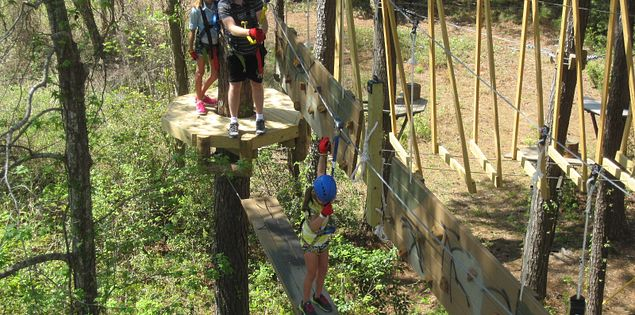 Zip lining is fun for everyone, especially the adventurers of the family!