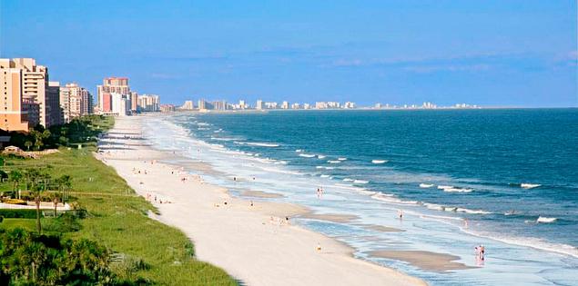 Myrtle Beach's Grand Strand in South Carolina