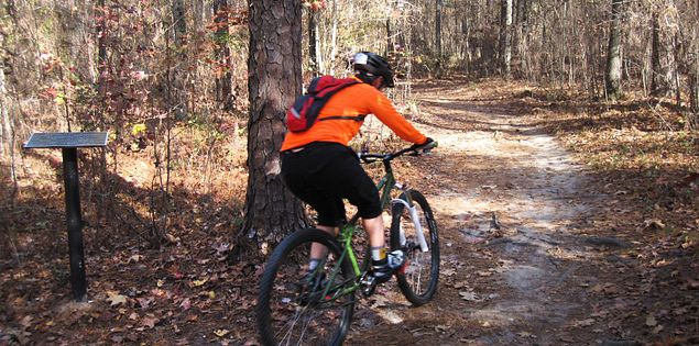 Biking the Forks Area Trail System in McCormick County