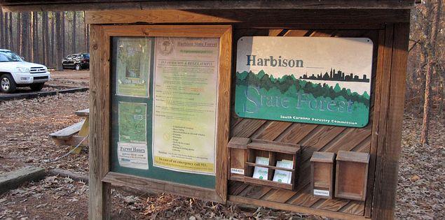 Midland biking trails in South Carolina's Harbison State Forest