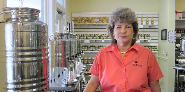 Owner, Linda Gilson, of the Oilerie on Hilton Head Island, South Carolina