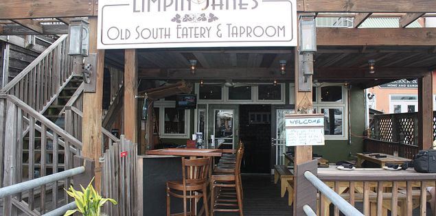 Limpin' Jane's Old South Eatery and Taproom along Georgetown's Harborwalk