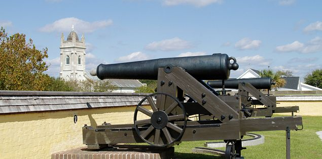 Fort Moultrie cannon near Charleston, South Carolina
