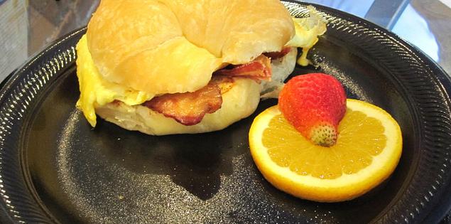 Breakfast sandwich served at Soby's