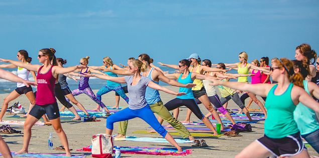 charleston beach yoga