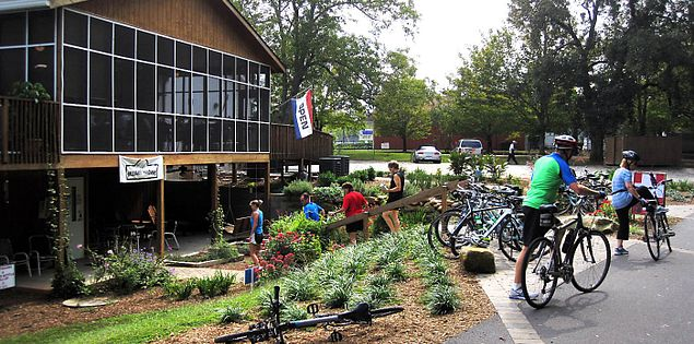 Swamp Rabbit Trail restaurant in Travelers Rest, South Carolina