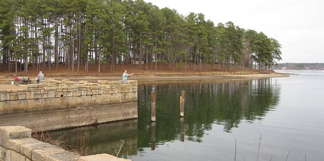 Fishing pier in Lake Greenwood State Park
