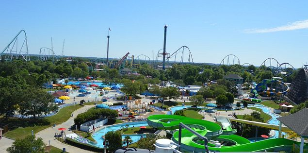 Boomerang Bay is the water park at Carowinds.