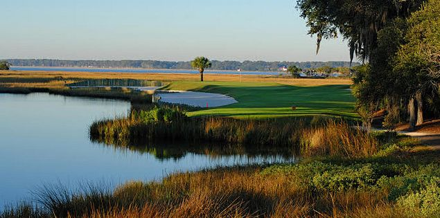 Harbour Town Golf Links' par-3 17th hole on Hilton Head Island