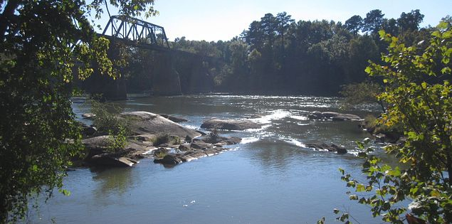 Congaree River in Columbia, South Carolina
