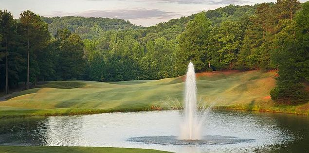 Fountain at Cherokee Valley's eighth hole