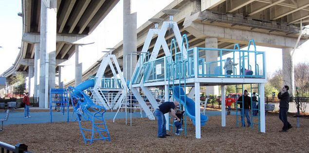 Playground at Mount Pleasant's Memorial Waterfront Park