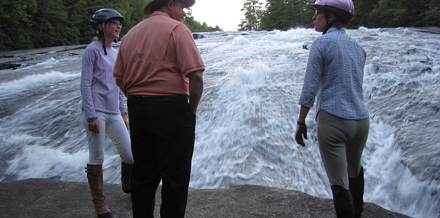Horseback waterfalls tour in Upstate South Carolina