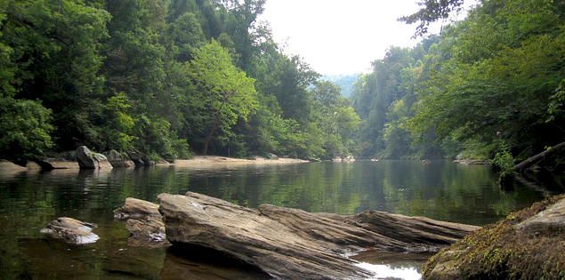 Lake Tugaloo near Section IV of the Chattooga River in South Carolina