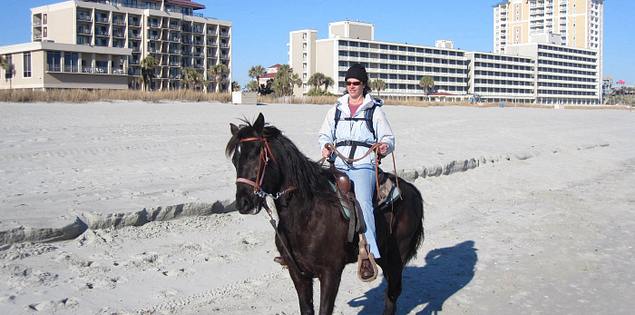 Riding a Tennessee Walker on South Carolina's Myrtle Beach