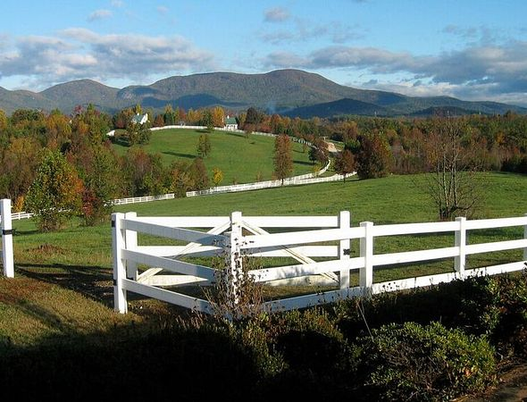 Pasture and mountain view