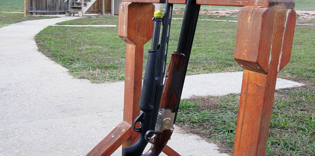 Shotguns for skeet shooting at Hickory Knob State Resort Park