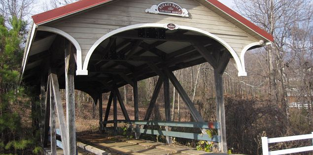 The Klickety-Klack Covered Bridge in South Carolina's Upstate