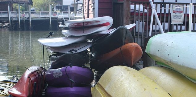Kayaks at Coastal Expeditions in Charleston