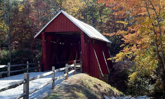 Gowensville And Campbell's Covered Bridge
