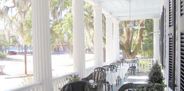 Porch on Beaufort's Landmark Historic District in the Lowcountry