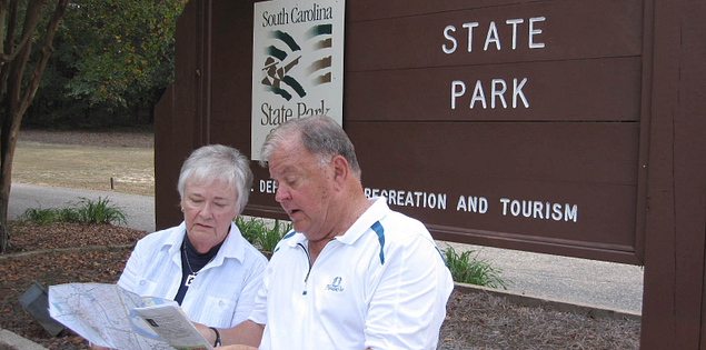 Don and Sue Weigel at Cheraw State Park in South Carolina
