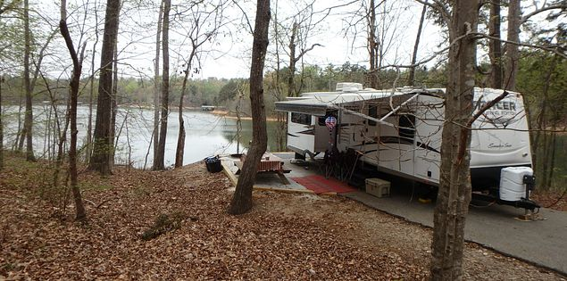 Campsites Lake Hartwell State Park