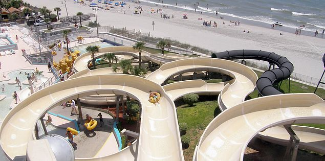 Slides at Family Kingdom Water Park on South Carolina's Grand Strand